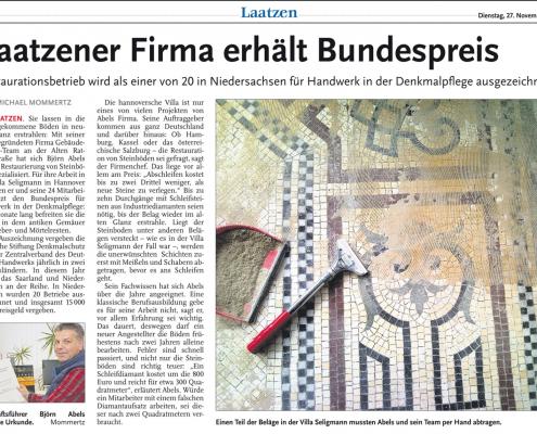 Laatzener Firma erhält Bundespreis