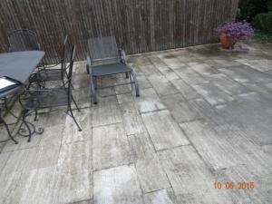 Reinigung und Imprägnierung von Terrassen vorher